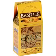 Чай Basilur (Базилюр) «Чайный остров Цейлон» Золотой/ Gold OP1 100г