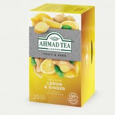 """Ахмад """"Лимон и имбирь"""" Травяной чай 20 пак."""