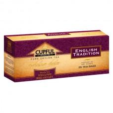 """Чай Cupful (капфул) """"English tradition"""" черный 25 пак."""