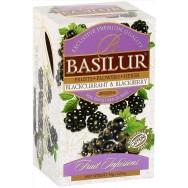"""Чай BASILUR (Базилюр) """"черная смородина и ежевика"""" 20 пак."""